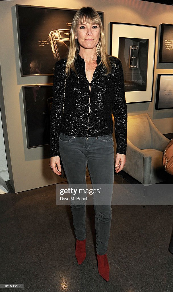Deborah Leng attends the launch of the Vertu Ti at the London Film Museum, Covent Garden on February 12, 2013 in London, England.