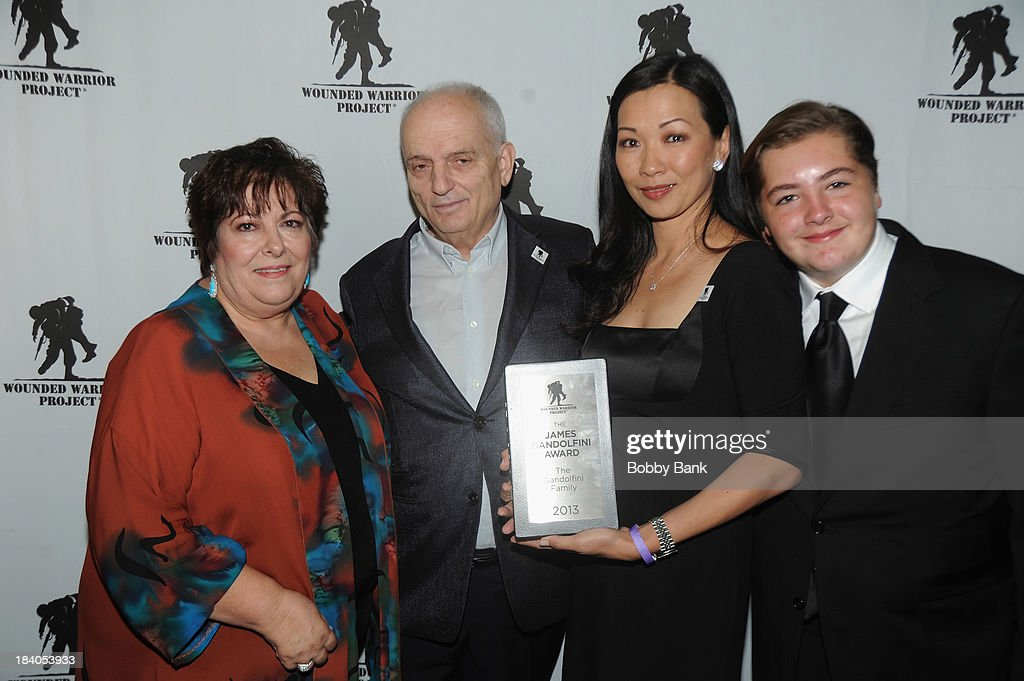Deborah Lin, David Chase, Michael Gandolfini and Johanna Antonacci attends the Wounded Warrior Project Carry Forward Awards Show at Club Nokia on October 10, 2013 in Los Angeles, California.