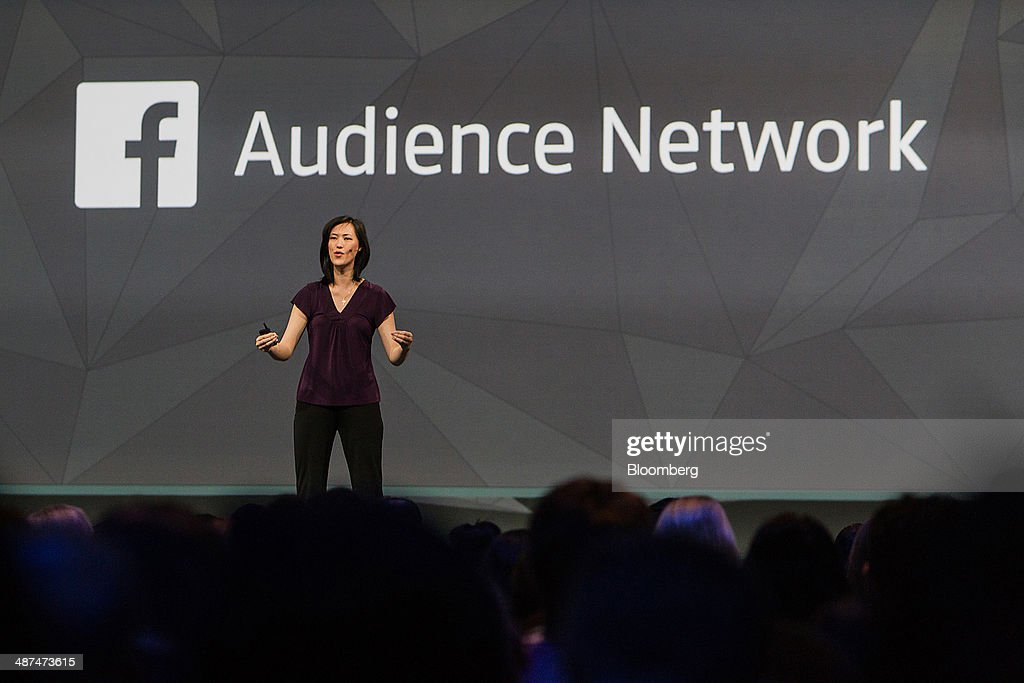 Deborah Liu, director of product management at Facebook Inc., speaks during the Facebook F8 Developers Conference in San Francisco, California, U.S., on Wednesday, April 30, 2014. Facebook will offer software developers improved tools to create programs that run on any smartphone and a more streamlined experience for people to log into apps, including the option to sign in anonymously. Photographer: Erin Lubin/Bloomberg via Getty Images