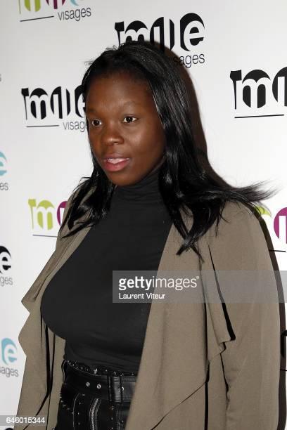 Deborah Lukumuena attends '1000 Visages' celebrates Its 10th Anniversary at Theatre du Gymnase on February 27 2017 in Paris France