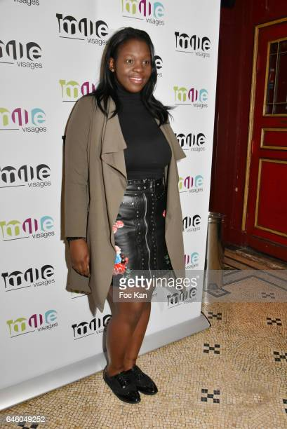 Deborah Lukumuena attends the 1000 Visages' Celebrates Its 10th Anniversary At Theatre Du Gymnase on February 27 2017 in Paris France