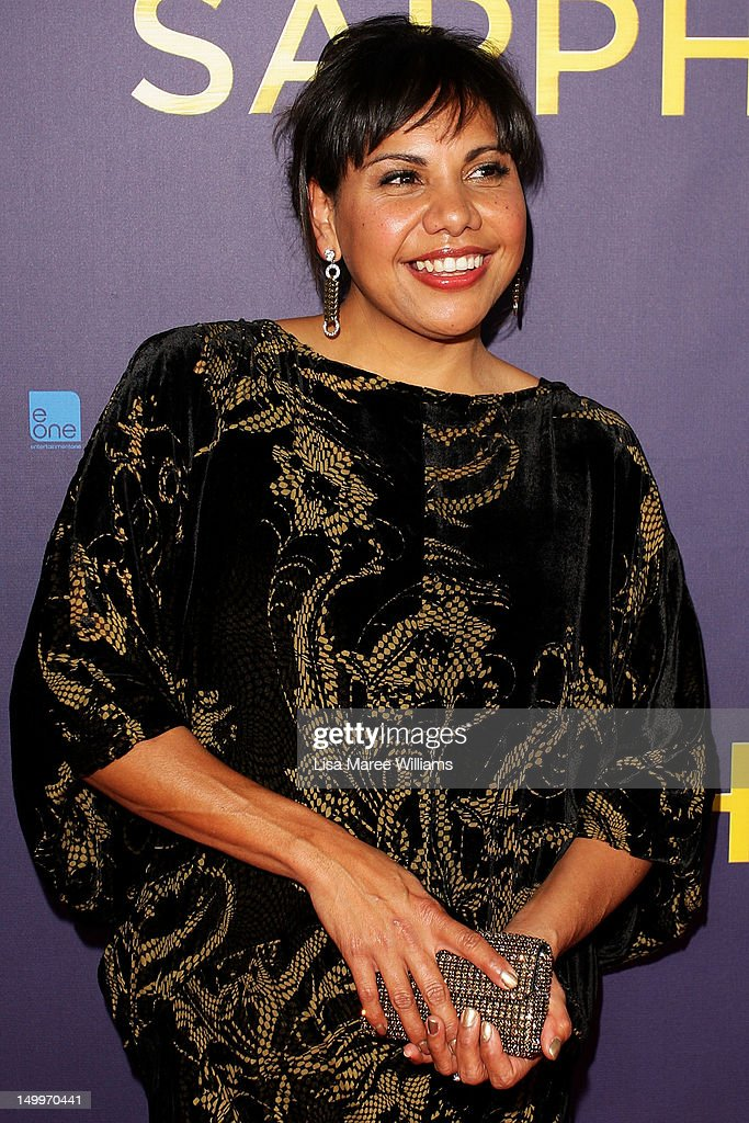 Deborah Mailman poses on the red carpet at the Sydney Premiere of The Sapphires at State Theatre on August 8, 2012 in Sydney, Australia.
