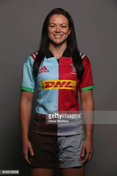 Deborah McCormack of Harlequins Ladies poses for a portrait during the Harlequins Ladies Squad Photo call for the 2017/18 Tyrrells Premier 15s Season...