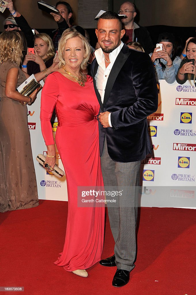 Deborah Meaden and guest attend the Pride of Britain awards at Grosvenor House on October 7, 2013 in London, England.