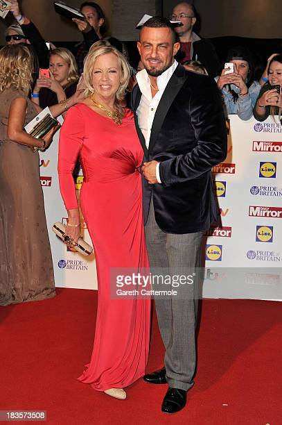 Deborah Meaden and guest attend the Pride of Britain awards at Grosvenor House on October 7 2013 in London England