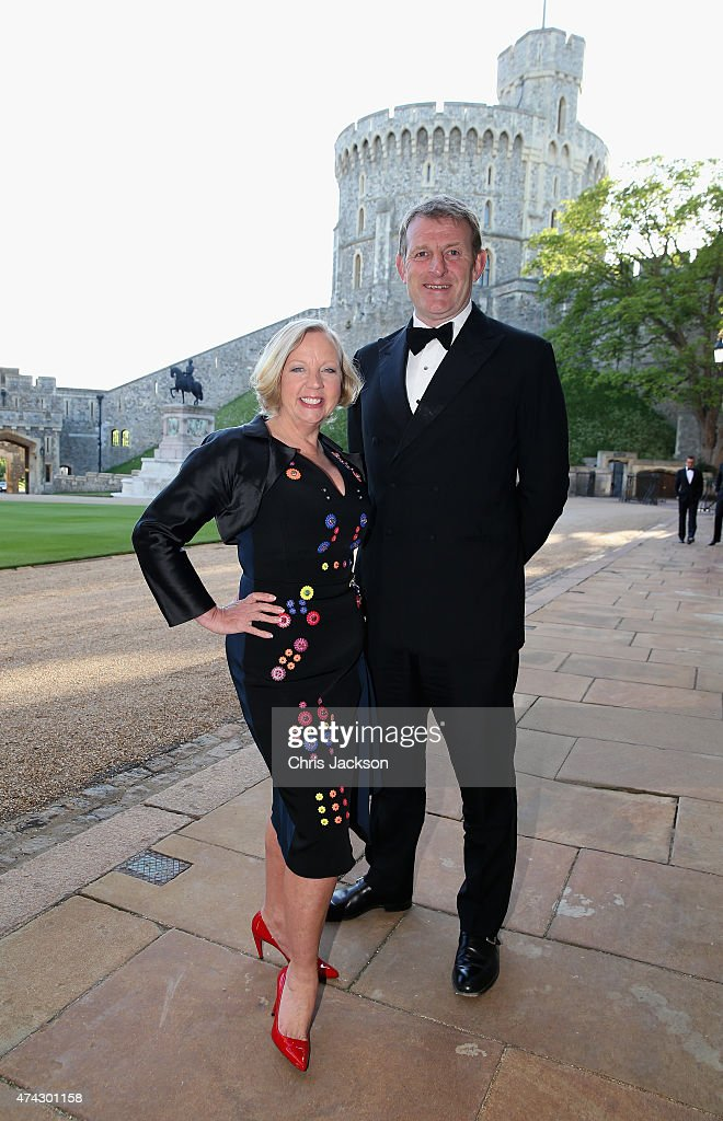 Deborah Meaden and Paul Farmer attend a dinner to mark the 25th anniversary of Tusk Trust at Windsor Castle on May 21, 2015 in Windsor, England. The reception and dinner took place in the presence of the Royal Patron of Tusk Prince William, Duke of Cambridge. Tusk is a conservation charity which aims to address the greatest challenges faced by Africa's wildlife and people.