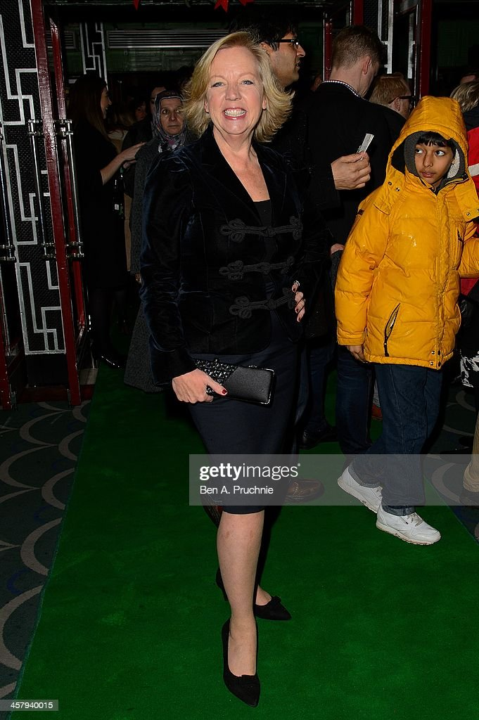Deborah Meaden attends the press night for 'Wicked' at Apollo Victoria Theatre on December 19, 2013 in London, England.