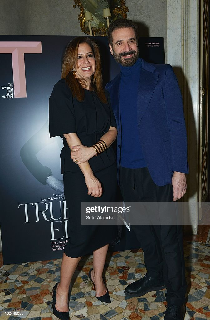 Deborah Needleman and Ennio Capasa attend Deborah Needleman's New York Times inaugural issue party during Milan Fashion Week Womenswear Fall/Winter 2013/14 on February 23, 2013 in Milan, Italy.
