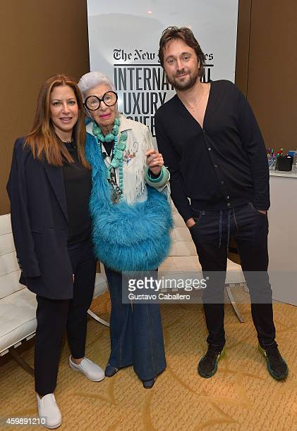 Deborah Needleman Editor in Chief T Magazine The New York Times Iris Apfel Design Entrepreneur and artist Francesco Vezzoli attend The New York Times...
