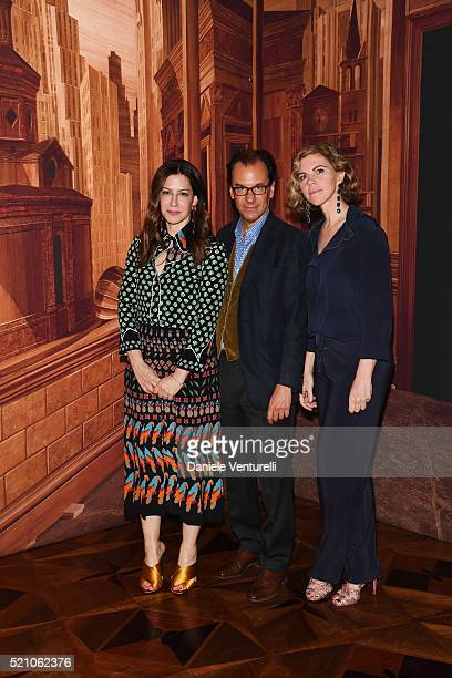 Deborah Needleman Laura Sartori Rimini and Roberto Peregalli attend the T Celebration of Culture Issue And Milan Design Week at Palazzo Crespi on...