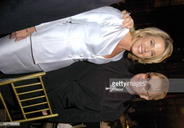 Deborah Norville and Elton John during Benefit Dinner for the Juilliard School and The Royal Academy of Music at Rainbow Room in New York City New...