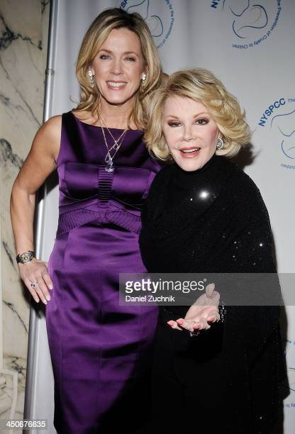 Deborah Norville and Joan Rivers attend the 2013 New York Society For The Prevention Of Cruelty To Children Wine Dinner at The Metropolitan Club on...
