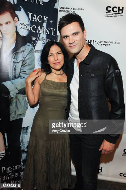 Deborah Ramaglia and Kash Hovey attend the 'Jack And Cocaine' Screening At The Valley Film Festival at Columbia College Hollywood on October 7 2017...