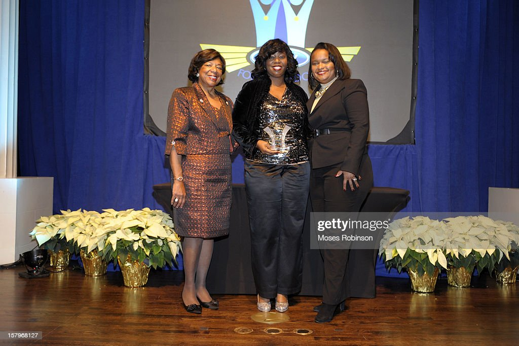 Deborah Richardson, Kia Morgan Smith and Director of Community Development for Ford Motor Company Pamela Alexander attend the 2012 Ford Freedom Usung Awards ceremony at Historic Academy of Medicine at Georgia Institute of Technology on December 7, 2012 in Atlanta, Georgia.