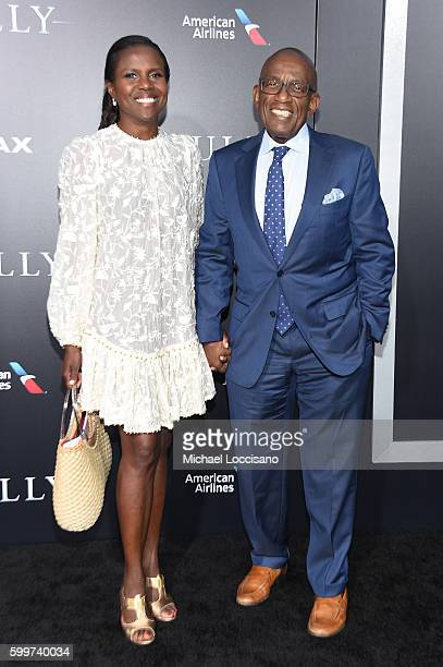 Deborah Roberts and Al Roker attend the 'Sully' New York Premiere at Alice Tully Hall on September 6 2016 in New York City