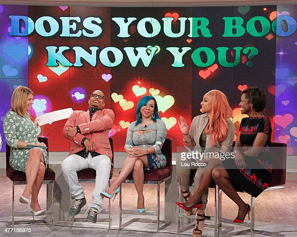 THE VIEW Deborah Roberts guest cohosts Guests include TI and Tiny Ben and Carly and chef Ron Duprat airing Friday June 12 2015 on ABC's 'The View'...