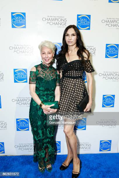 Deborah S Sarnoff MD and Famke Janssen during the Skin Cancer Foundation's Champions for Change Gala at Cipriani 25 Broadway on October 17 2017 in...