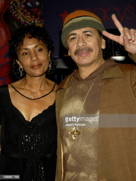 Deborah Santana and Carlos Santana during Carlos and Deborah Santana InStore Appearance For Carlos's New Fragrance 'Carlos Santana' June 5 2006 at...