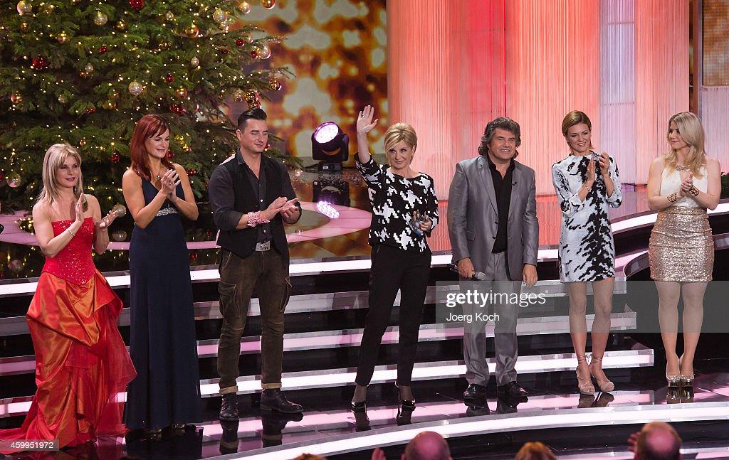 Deborah Sasson Andrea Berg Andreas Gabalier Carmen Nebel Andy Borg Ella Endlich Beatrice Egli and others attend the TV show 'Die schönsten...