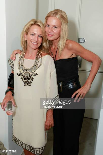Deborah Srb and Elizabeth Cohen attend INSPIRED Exhibition Curated By Beth Rudin DeWoody at Steven Kasher Gallery on July 14 2010 in New York City
