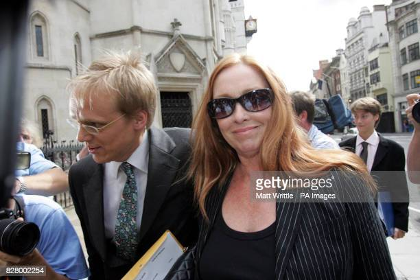 Deborah Tait sister of murdered Hollywood actress Sharon arrives at the Royal Courts of Justice She is giving evidence as film director Roman...