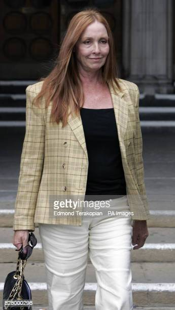 Deborah Tate the sister of the late actress Sharon Tate leaves the High Court