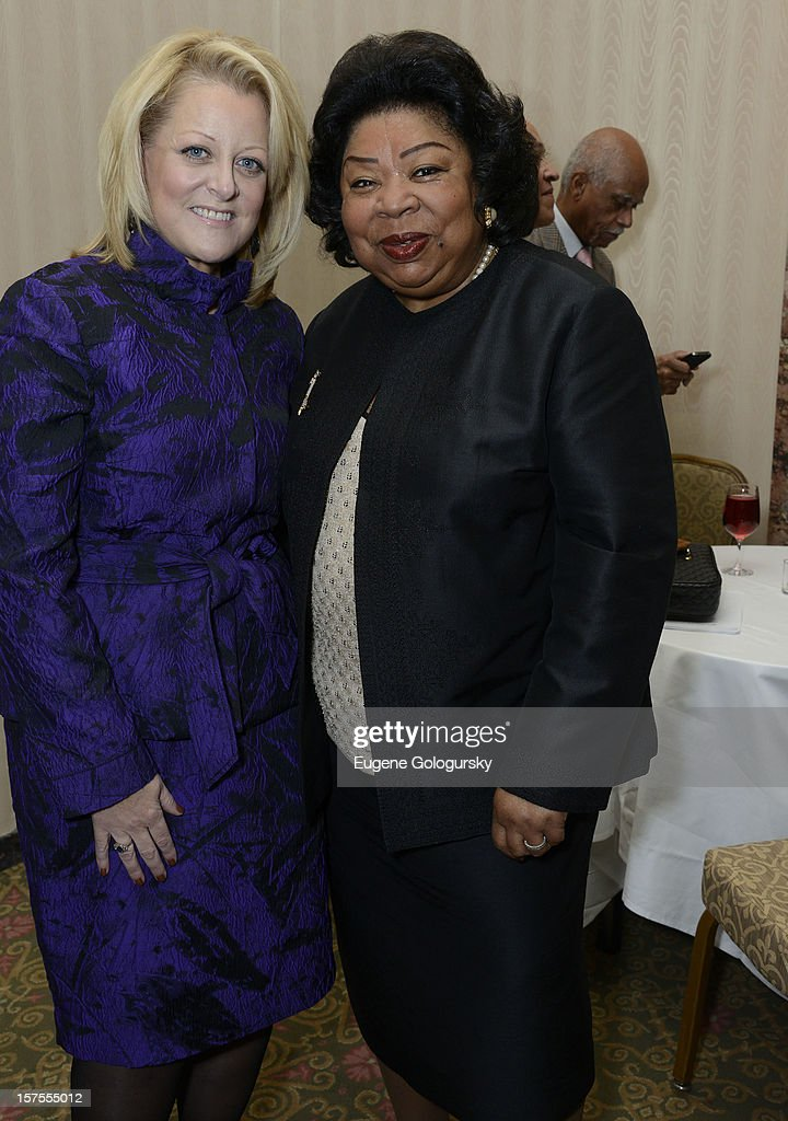 Deborah Voight and Martina Arroyo attend the Metropolitan Opera Guild's 78th Annual Luncheon Celebrating 'Star Power!' at The Waldorf Astoria on December 4, 2012 in New York City.