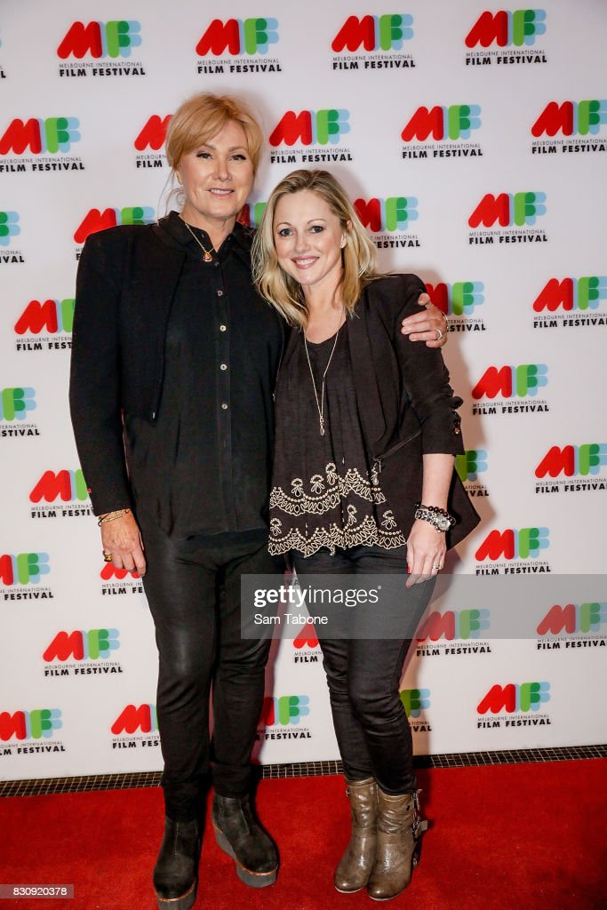 Deborra Lee Furness and Simone Buchanan arrive ahead of a screening of Shame as part of the 66th Melbourne International Film Festival on August 13, 2017 in Melbourne, Australia.