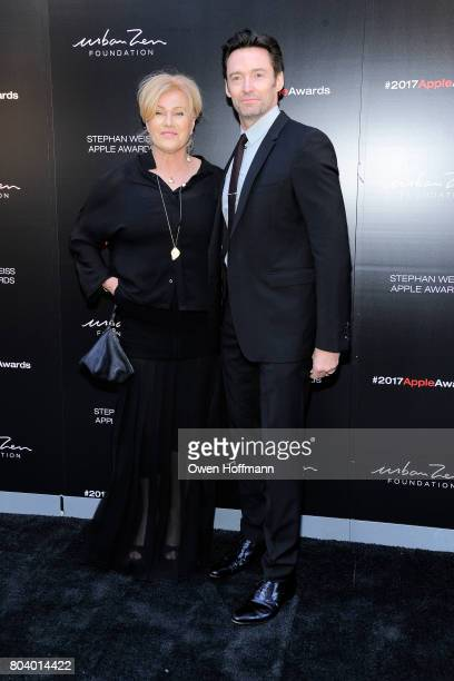 DeborraLee Furness and Hugh Jackman attend 2017 Stephan Weiss Apple Awards at Urban Zen on June 7 2017 in New York City