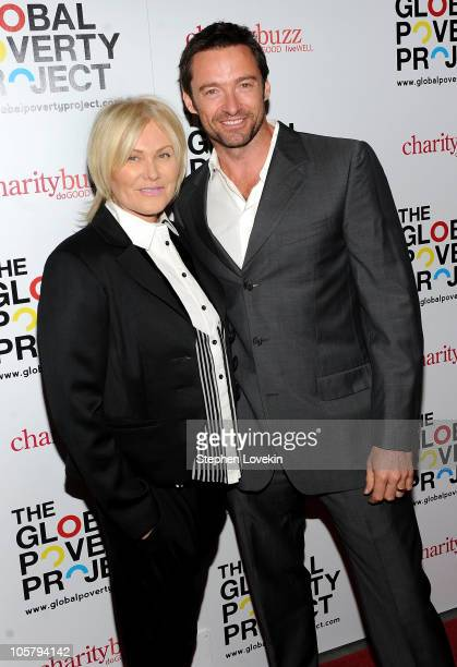 DeborraLee Furness and Hugh Jackman attend Global Poverty Project Premieres 14 Billion Reasons In New York at The Museum of Modern Art on October 20...