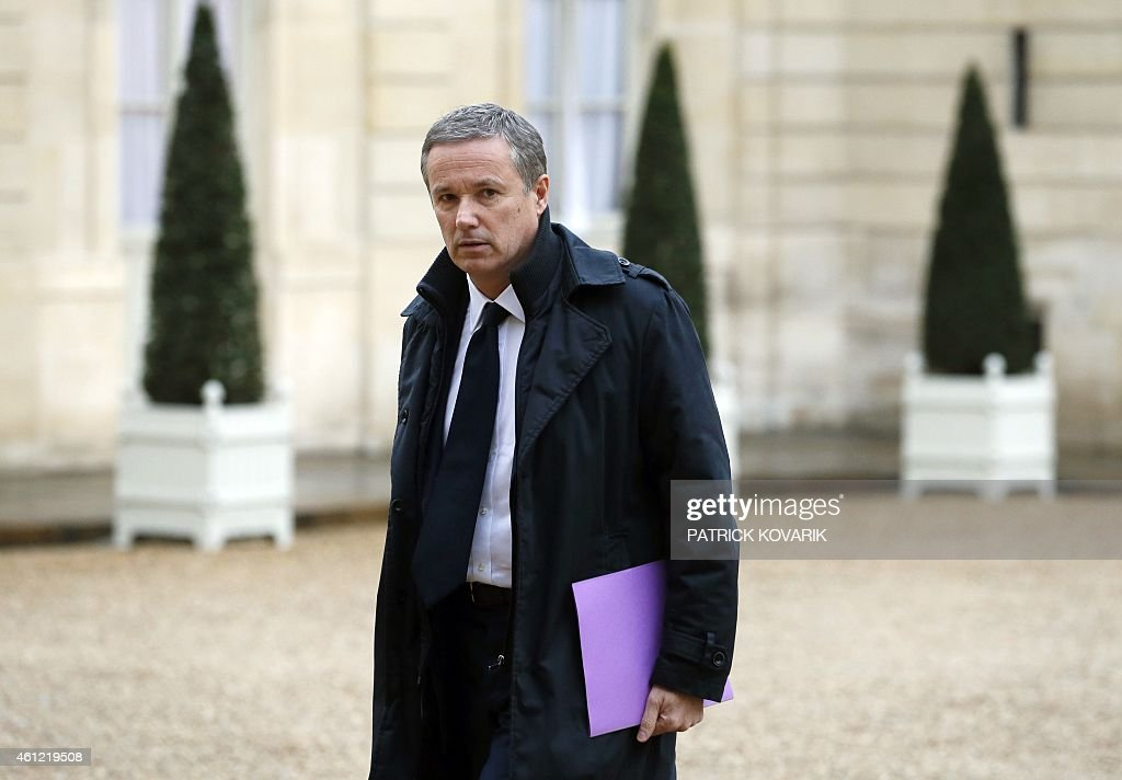 Debout la Republique (Stand up, the Republic!) party leader <a gi-track='captionPersonalityLinkClicked' href=/galleries/search?phrase=Nicolas+Dupont-Aignan&family=editorial&specificpeople=2205738 ng-click='$event.stopPropagation()'>Nicolas Dupont-Aignan</a> arrives at the Elysee Palace in Paris, on January 9, 2015 in Paris to meet French President, after a deadly attack that occurred on January 7 by armed gunmen on the Paris offices of French satirical weekly newspaper Charlie Hebdo. The FN has said it would be a scandal if her party is not welcome at a national demonstration of mourning on on January 11, 2015 in memory of the victims of the Charlie Hebdo shooting.