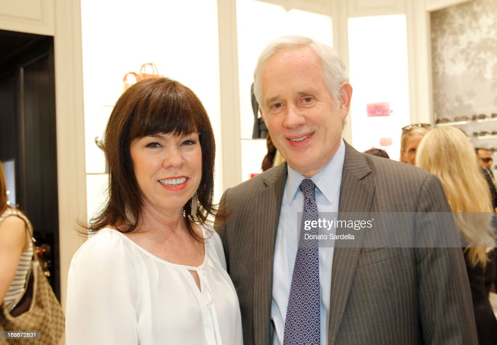 Debra Gunn Downing and David Grant attend Dior celebrates the opening of Dior Couture Patrick Demarchelier Exhibition at the Dior store at South Coast Plaza May 10, 2013 in Costa Mesa, California.