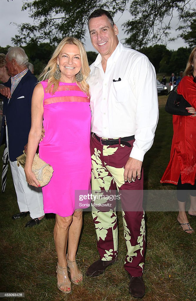 Debra Halpert and Dennis McDermott attend the Southampton Hospital's 56th Annual 'Endless Summmer' party on August 2, 2014 in Southampton, New York.