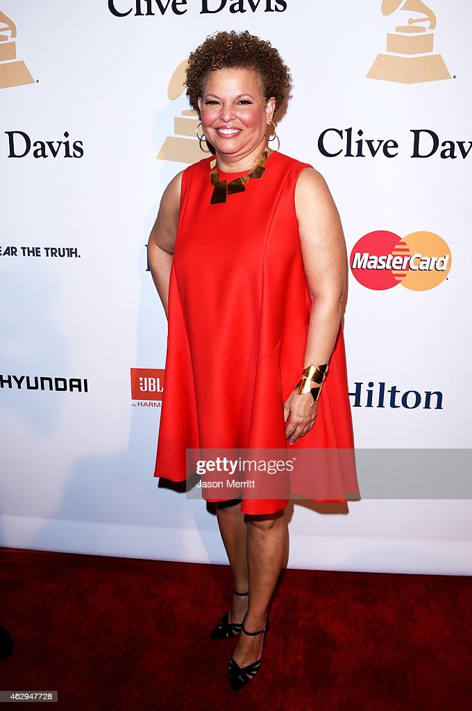 Debra L Lee attends the PreGRAMMY Gala and Salute To Industry Icons honoring Martin Bandier at The Beverly Hilton Hotel on February 7 2015 in Beverly...
