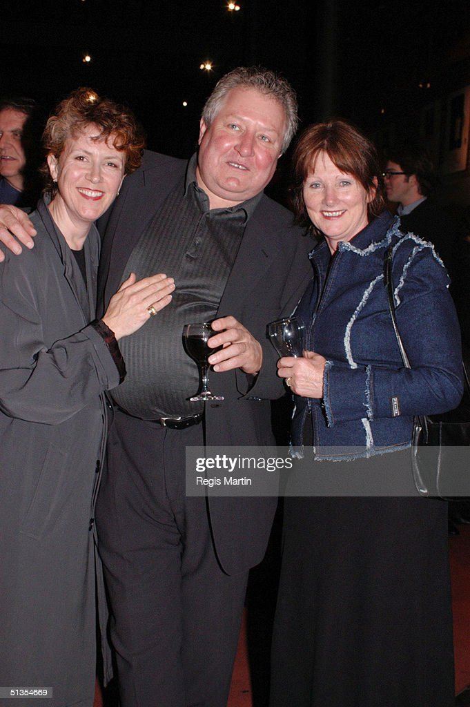 SEPTEMBER 10 2002 Debra Lawrance John Wood and Leslie Wood at the after party for the opening night of the play ' The Elocution Of Benjamin Franklin...