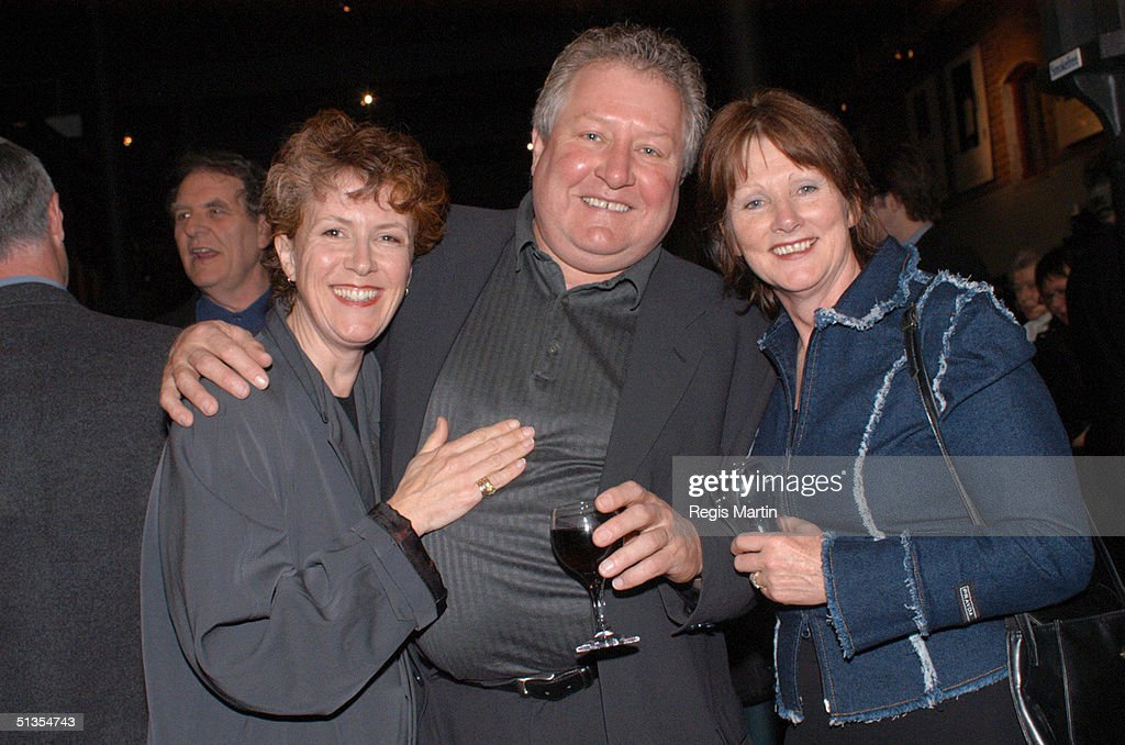Debra Lawrance John Wood and Leslie Wood at the after party for the opening night of the play ' The Elocution Of Benjamin Franklin ' at the Merlyn...