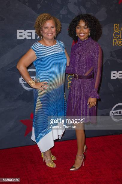 Debra Lee and Actress Yara Shahidi attend Black Girls Rock at New Jersey Performing Arts Center on August 5 2017 in Newark New Jersey
