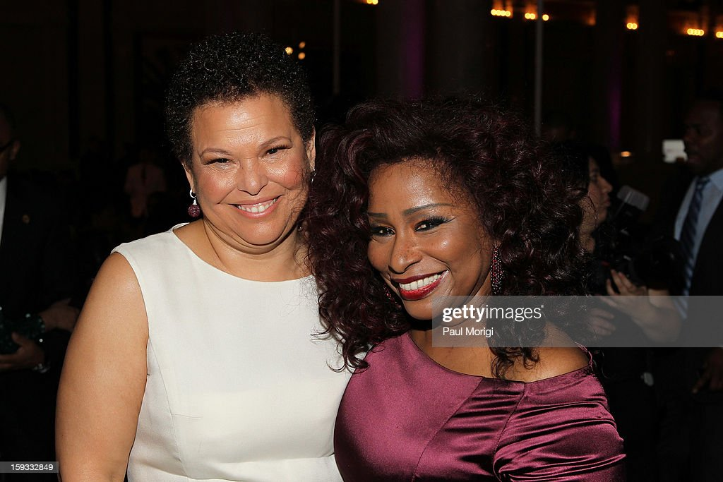 Debra Lee and <a gi-track='captionPersonalityLinkClicked' href=/galleries/search?phrase=Chaka+Khan&family=editorial&specificpeople=208691 ng-click='$event.stopPropagation()'>Chaka Khan</a> attend BET Honors 2013: Debra Lee Pre-Dinner at The Library of Congress on January 11, 2013 in Washington, DC.
