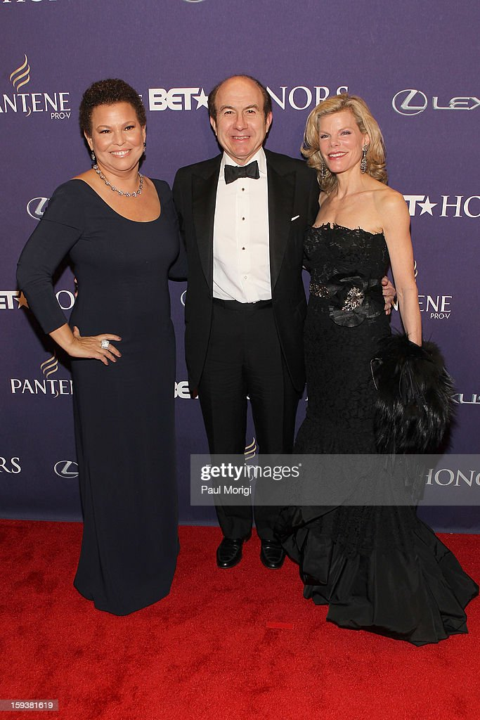 Debra Lee, Philippe Dauman and Deborah Dauman attend BET Honors 2013: Red Carpet Presented By Pantene at Warner Theatre on January 12, 2013 in Washington, DC.