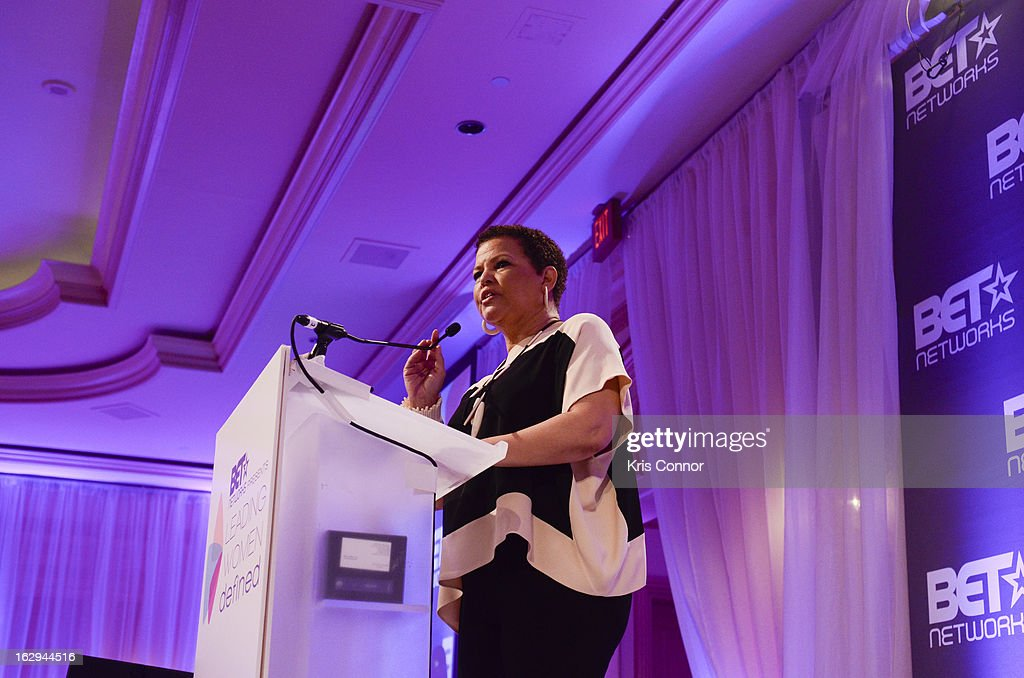Debra Lee speaks during the Leading Women Defined: Girl's Night Out at Ritz Carlton Hotel on March 1, 2013 in Washington, DC.