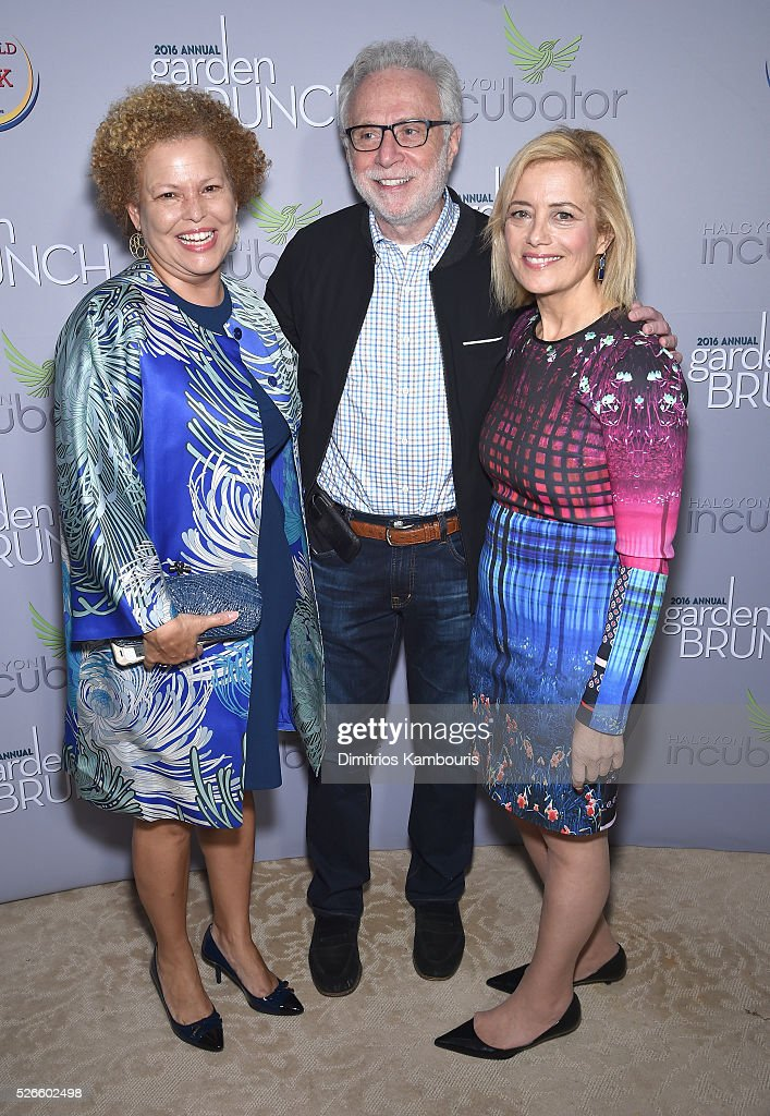 Debra Lee, <a gi-track='captionPersonalityLinkClicked' href=/galleries/search?phrase=Wolf+Blitzer&family=editorial&specificpeople=221464 ng-click='$event.stopPropagation()'>Wolf Blitzer</a>, and Hilary Rosen attend the Garden Brunch prior to the 102nd White House Correspondents' Association Dinner at the Beall-Washington House on April 30, 2016 in Washington, DC.