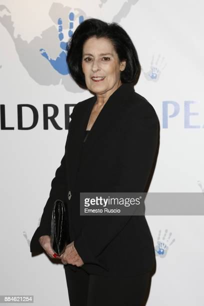 Debra Mace arrives for the Children for Peace Gala Dinner at Cardinal Gallery on December 2 2017 in Rome Italy