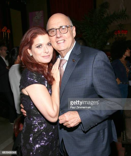Debra Messing and Jeffrey Tambor attend the 2017 Gersh Upfronts Party at The Jane Hotel on May 16 2017 in New York City