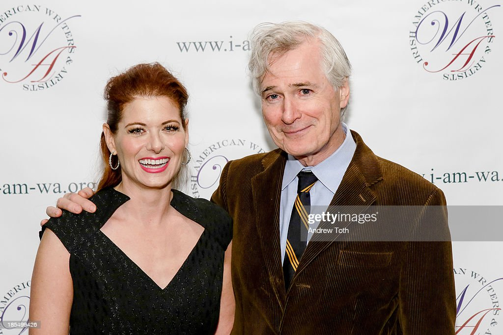 <a gi-track='captionPersonalityLinkClicked' href=/galleries/search?phrase=Debra+Messing&family=editorial&specificpeople=202114 ng-click='$event.stopPropagation()'>Debra Messing</a> (L) and <a gi-track='captionPersonalityLinkClicked' href=/galleries/search?phrase=John+Patrick+Shanley&family=editorial&specificpeople=213726 ng-click='$event.stopPropagation()'>John Patrick Shanley</a> attend the 2013 Eugene O'Neill Lifetime Achievement Award gala at The Manhattan Club at Rosie O'Grady's on October 21, 2013 in New York City.