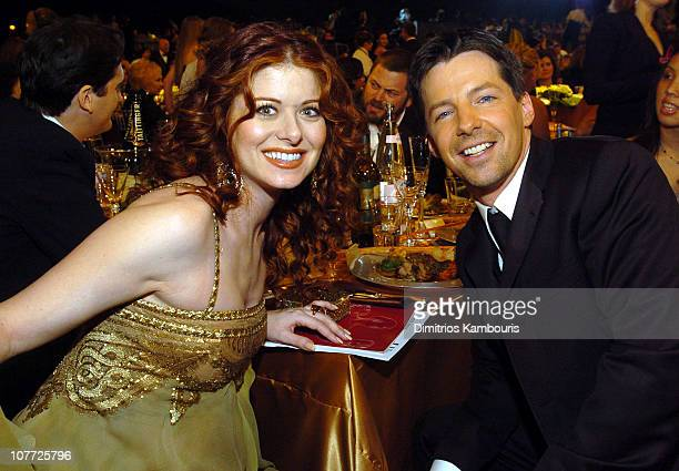Debra Messing and Sean Hayes during 10th Annual Screen Actors Guild Awards Backstage and Audience at Shrine Auditorium in Los Angeles California...