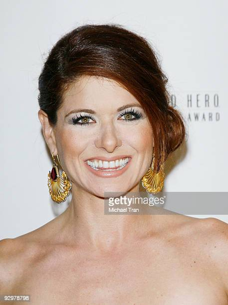Debra Messing arrives to USA Today's 2009 Hollywood Hero Awards held at The Montage Beverly Hills on November 10 2009 in Beverly Hills California