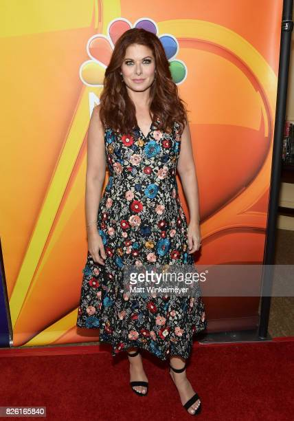 Debra Messing at the NBCUniversal Summer TCA Press Tour at The Beverly Hilton Hotel on August 3 2017 in Beverly Hills California
