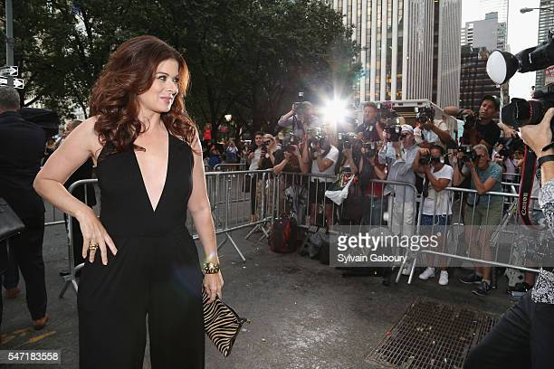 Debra Messing attends Amazon Lionsgate with The Cinema Society Host the New York Premiere of 'Cafe Society' on July 13 2016 in New York City