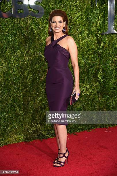 Debra Messing attends the 2015 Tony Awards at Radio City Music Hall on June 7 2015 in New York City
