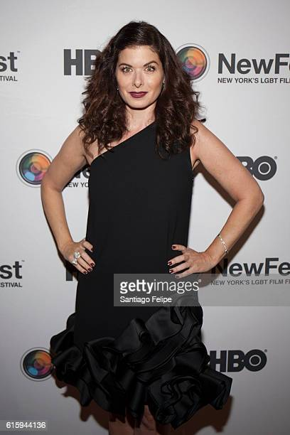 Debra Messing attends the 28th Annual New York LGBT Film Festival Newfest Voice Visibility Award at SVA Theater on October 20 2016 in New York City